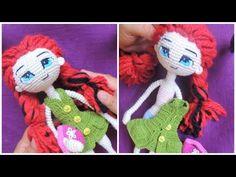 COMO TEJER VESTIDO A TUS MUÑECAS - Ropa Muñeca Articulable A Crochet #3 - YouTube