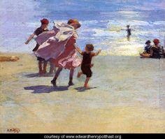 Brighton Beach - Edward Henry Potthast - www.edwardhenrypotthast.org