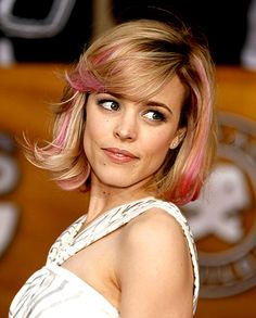 Rachel McAdams   The Canadian-born actress, 32, turned heads with her pink highlights at the 13th Annual Screen Actors Guild Awards in Los Angeles on Jan 28, 2007.