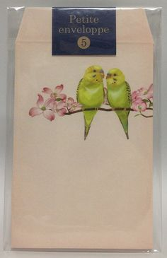 Sets of 5  Budgie Mini Envelopes For Gift by SweetSuppliesStore, ¥313 Pretty envelopes