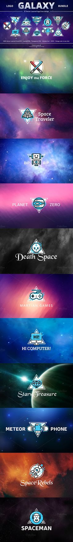 Logo Galaxy Bundle by Manudesign on Creative Market