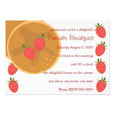 Strawberry Pancake Announcements