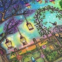Nossa Estou Impressionada Com Esse Fundo By Anaclaudiasouto Desenhoscolorir Jardimsecreto Coloring BooksAdult