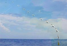 Los drones que emergen del agua, el ejército naval de los Estados Unidos lo consigue