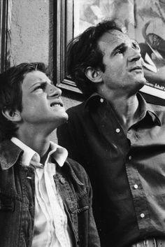 Bruno de Stanbenrath et François Truffaut - sur le tournage de L'argent de poche