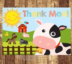 Hey, I found this really awesome Etsy listing at https://www.etsy.com/listing/189001124/farm-animal-thank-you-card-barnyard