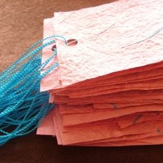 Handmade Paper: A step by step, picture tutorial.