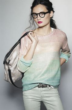 Page 19: Willow & Clay 'Salt Water Taffy' Ombré Stripe Sweater #Nordstrom #December Catalog #GiftsWithGusto