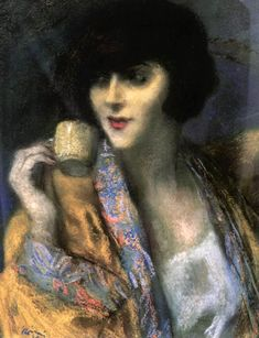 Jozsef Rippl-Ronai: Woman with a Chinese Cup, 1920