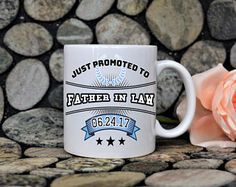 father mug,father in law mug,just promoted to father in law mug,father in law gift,mug for dad,father in law,wedding gift idea,pregnancy