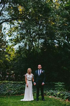 Chic outdoor city wedding by Through The Woods We Ran | www.onefabday.com