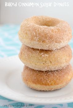 Easy to make Baked Cinnamon Sugar Donuts