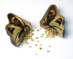 Marta Mattsson: (dead insects and  animal skins along with metal, resin,   gems and stones)