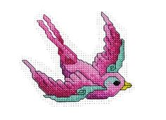 Free Bird of Hope Breast Cancer cross stitch design