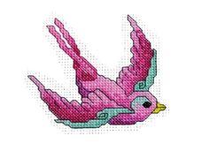Free Bird of Hope Breast Cancer cross stitch design
