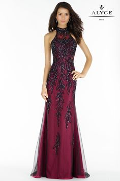 Alyce 6721 Lace and Tulle Dress