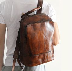 Hand Crafted LEATHER BACKPACK in Brown Color,Citi Rucksack with Zipper Lining Made of Full Grain Leather GS011 Cute Handbags, Cheap Handbags, Purses And Handbags, Luxury Handbags, Popular Handbags, Cheap Purses, Trendy Handbags, Hobo Purses, Luxury Purses