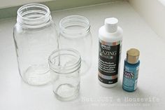 gloss enamel paint 1024x682 Make Your Own Blue Jars!!!