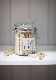 Perfect give for new homes and a sure way to keep those pegs stored safely.