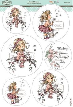 Wee Sylvia Zet die cut topper collection by the Hobby House - Sweet Blossom