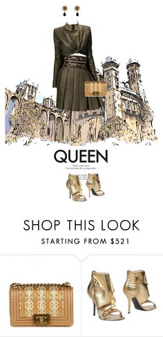 """""""I'm heading straight for the castle"""" by natyleygam ❤ liked on Polyvore featuring Balmain, Moschino and Dolce&Gabbana"""