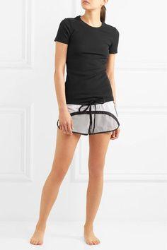 No Ka'Oi - Pune Color-block Stretch-shell Shorts - White