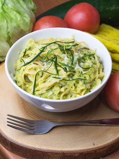 Chef in her kitchen.-]: Spaghetti with young zucchini and cheese Spaghetti, Zucchini, Chef, Cabbage, Lunch, Dinner, Vegetables, Ethnic Recipes, Kitchen