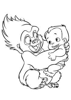 Tarzan Coloring Pages Disney Coloring Pages Pinterest Tarzan