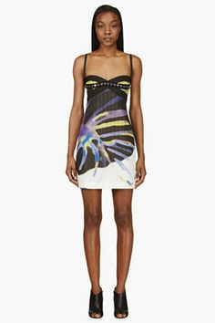 structured printed dress
