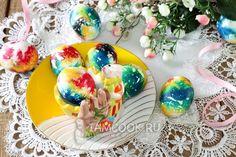Фото мраморных яиц на пасху