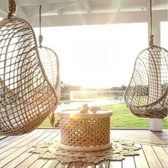 the grove byron bay - swing chairs // hello, yesss! The Grove Byron Bay, Outdoor Rooms, Outdoor Decor, Chair Makeover, The Design Files, Construction, Swinging Chair, Diy Chair, My Dream Home