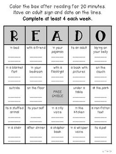 I created this product to use for homework as a reading log.
