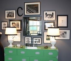 love the lamps, photos and letter