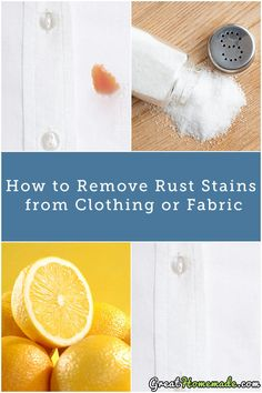 Learn how to remove rust stains from clothes the easy, all natural way. #stains #cleaning #laundry
