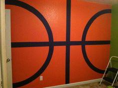 Basketball wall finished, tennis and football walls up next!