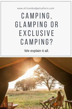 Sometimes, the only way to get a true African bush experience is to stretch outside your comfort levels. Luckily there's camping, glamping, budget camping and exclusive camping so, in this blog, we break it down so you know what you're getting when you book these tours with us.  #TravelBlog #Camping #Glamping #BudgetTravel #Safari #Travel #Africa
