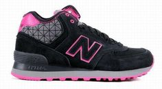 Joes New Balance 574 WH574WKP boots middle-cut leather Pink Red Black Womens Shoes