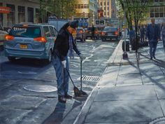 Realist oil NYC paintings and artist's new series with nature and botanicals New Series, New York City, Street View, Nyc, Studio, Canvas, Nature, Artist, Painting