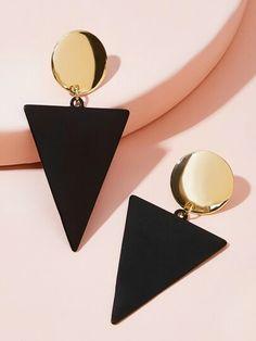 Fancy Jewellery, Fancy Earrings, Jewelry Design Earrings, Ear Jewelry, Black Earrings, Stylish Jewelry, Cute Jewelry, Fashion Earrings, Fashion Jewelry