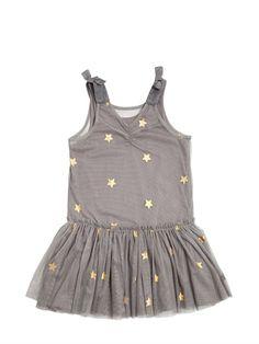 Strar print tulle dress - Stella McCartney Kids