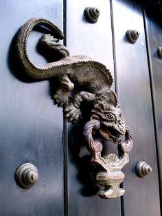 Llamador de una puerta en Cartagena - Colombia