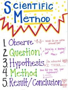 This Scientific Method poster is a great reference tool for elementary science students! Each step within this visual aide has clues to help students understand the meaning of each step of the scientific method.