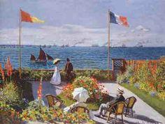 Claude Monet - Terrasse à Sainte-Adresse (1867)