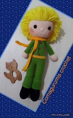 Leithygurumi: Amigurumi Little Prince Event First Part / Amigurumi . Crochet Amigurumi, Amigurumi Toys, Amigurumi Patterns, Crochet Dolls, Crochet Motifs, Free Crochet, Baby Knitting Patterns, Free Knitting, The Little Prince