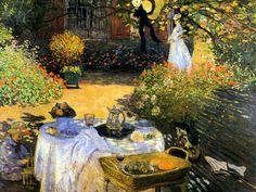 """Buongiorno a tutti con la """"Colazione in giardino"""" di Monet..."""
