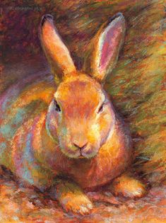 "Daily Paintworks - ""Sir Hops"" - Original Fine Art for Sale - © Rita Kirkman Rabbit Drawing, Rabbit Art, Wildlife Paintings, Animal Paintings, Pastel Paintings, Rabbit Illustration, Illustration Art, Easter Pictures, Easter Art"