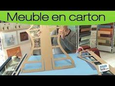 Fabriquer un meuble en carton : créer un gabarit - YouTube