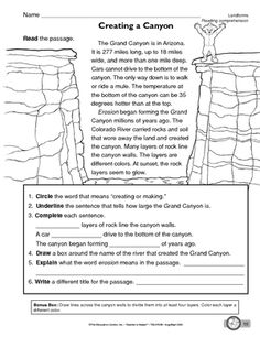Worksheet Grand Canyon Worksheets national parks grand canyon and worksheet canyons
