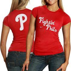 Nike Philadelphia Phillies Ladies Red Local T-shirt