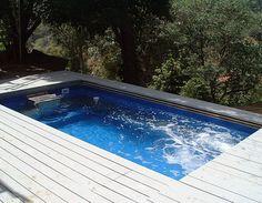 swim spa - high elevation deck